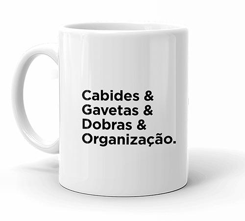 Caneca Personal Organizer - Cabides, gavetas, dobras e organização