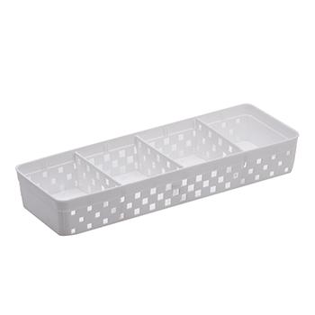 Cesto Organizador com divisórias - Quadratta Branco 33x11x5 cm - 1067