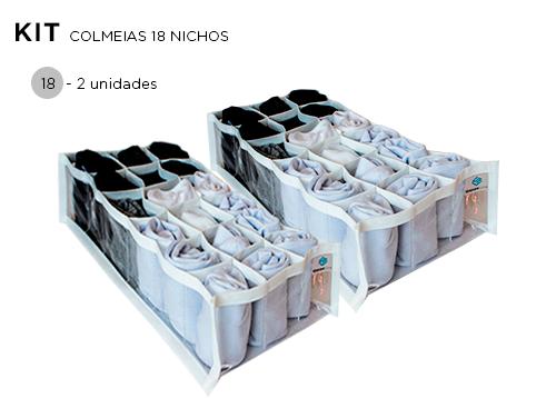 Colmeia Cristal Branca 18 nichos  - Kit 2 unidades - 20x38x10cm