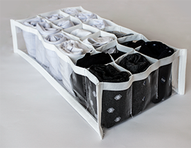 Kit com 2 colmeias cristal branca 18 nichos - 20x38x10cm