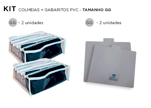 Colmeia Cristal Branca GG Kit 2 unidades + 2 Gabaritos para Dobras GG