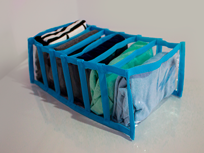 Colmeia Organizadora Cristal Azul  - Tamanho M - 15x28x10cm
