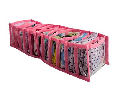 Colmeia Organizadora  Fixel Cristal Rosa - Tamanho P - 15x28x10cm