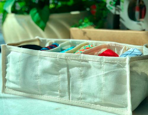 Colmeia Organizadora de algodão orgânico - Tamanho M