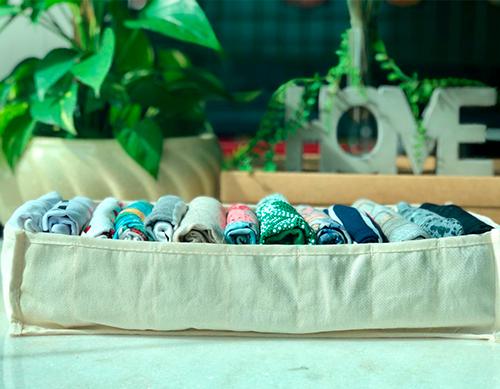 Colmeia Organizadora de algodão orgânico - Tamanho P