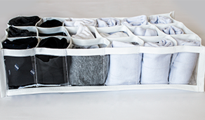 Colmeia organizadora Fixel Cristal Branca - Tamanho 18 nichos - 20x38x10cm