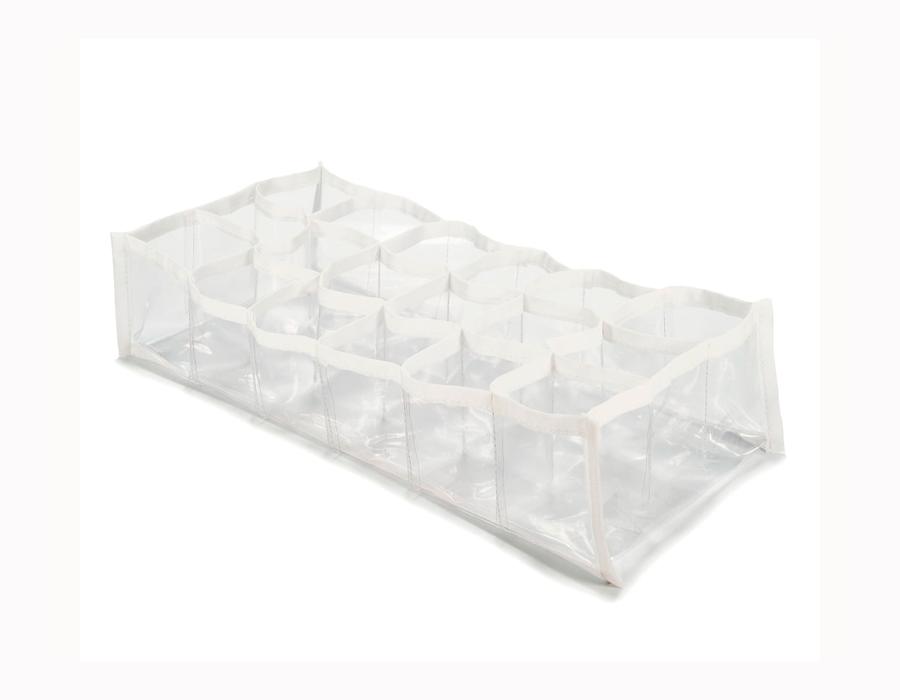 Colmeia organizadora Fixel Cristal Branca - 18 nichos
