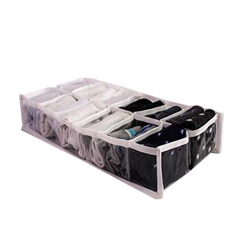 Colmeia organizadora Fixel Cristal Branca - Tamanho 12 nichos - 20x38x8cm