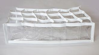 Colmeia Organizadora Fixel Cristal Branca - Tamanho 18 nichos com viés lateral - 15x28x10cm