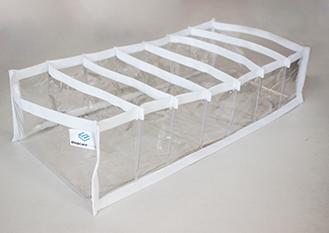 Colmeia organizadora Fixel Cristal Branca - Tamanho G - 20x40x10cm