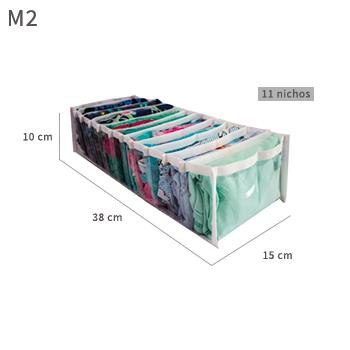 Colmeia organizadora Fixel Cristal Branca - Tamanho M2 - 15x38x10cm
