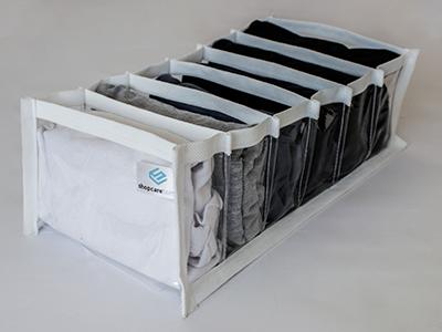 Colmeia organizadora  - Tamanho M - 15x28x10 cm - Fixel Cristal Branca