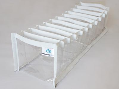 Colmeia organizadora Fixel Cristal Branca - Tamanho P - 13x38x10cm