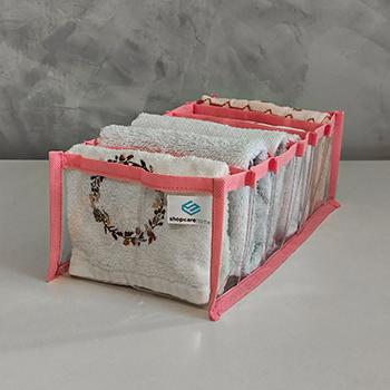 Colmeia Organizadora Fixel Cristal Rosa  - Tamanho M - 15x28x10cm