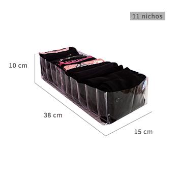 Colmeia organizadora Fixel Transparente - Tamanho M2 - 15x38x10cm