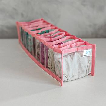 Colmeia Organizadora - Tamanho P - 13x38x10 cm - Fixel Cristal Rosa