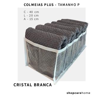 COLMEIA PLUS - CRISTAL BRANCA - TAMANHO P - toalhas, calça legging, etc