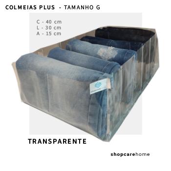 COLMEIA PLUS - TRANSPARENTE - TAMANHO G - para calça jeans