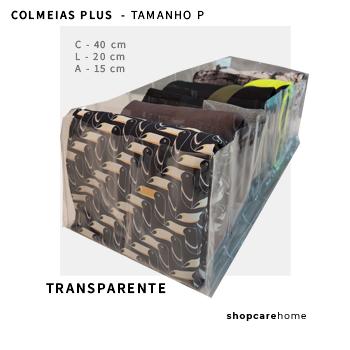 COLMEIA PLUS - TRANSPARENTE - TAMANHO  P  - toalhas de rosto, legging, etc