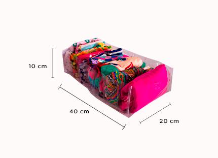 Colmeia Organizadora Fixel Transparente - Tamanho G - 20x40x10 cm