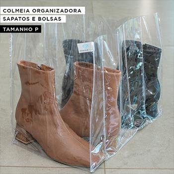 COLMEIA TRANSPARENTE PARA SAPATOS E BOLSAS - Tamanho P