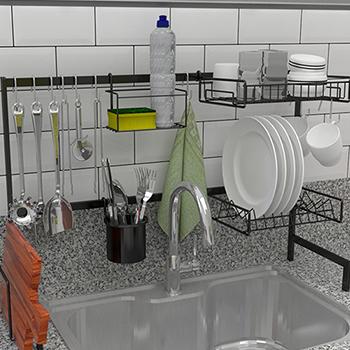Cozinha autossustentável 82 cm
