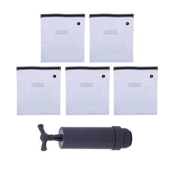 Embalagens COMPACT FOOD G com 5 unidades + Bomba a vácuo
