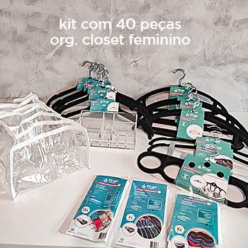 Especial Dia das Mães - Kit organização closet c/ 40 peças