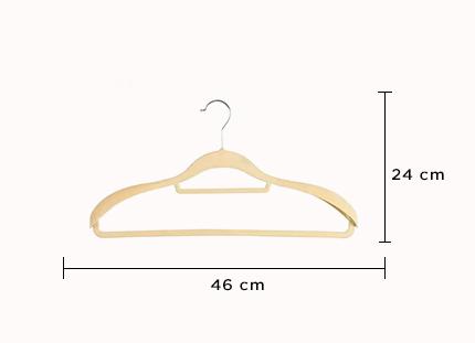 Cabide de veludo com ombreiras - Fixel para ternos - Kit com 10 unidades