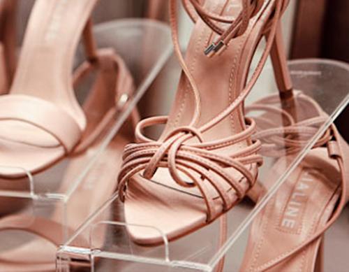Organizador de Sapatos Cristal Acrílico Adulto - Kit 10 unidades