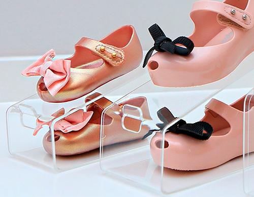 Organizador de Sapatos Cristal Acrílico Baby - Kit 16 unidades
