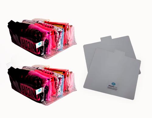Colmeia Cristal Transparente GG Kit 2 unidades + 2 Gabaritos para Dobras GG