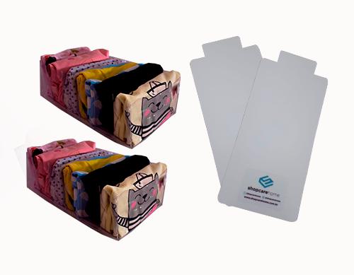 Colmeia Cristal Transparente M Kit 2 unidades + 2 Gabaritos para Dobras M
