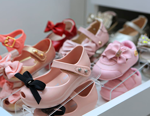 Organizador de Sapatos Cristal Acrílico Baby - Kit 32 unidades