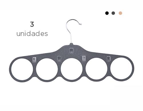 Cabide de Veludo para Lenços - Kit 3 unidades