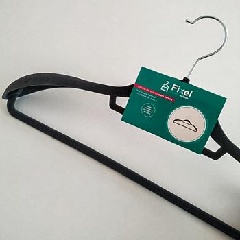 Cabide de veludo com ombreiras - Fixel para ternos - Kit com 40 unidades