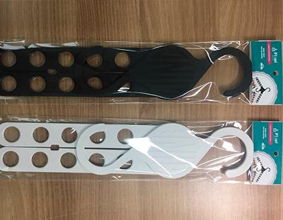 Cabide Multifuncional Extensor Preto - Kit 5 unidades