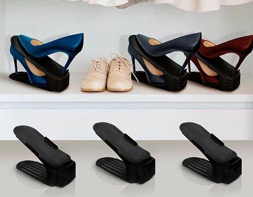 Kit 6 unidades - Organizador de sapatos preto