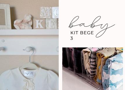 Kit BABY bege 3 + BRINDE