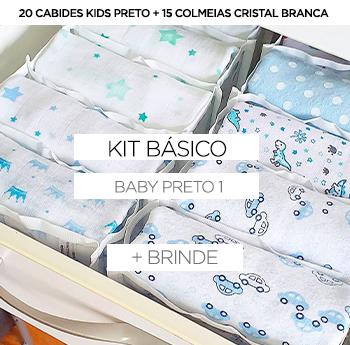 KIT Baby/Kids - Preto 1 + BRINDE