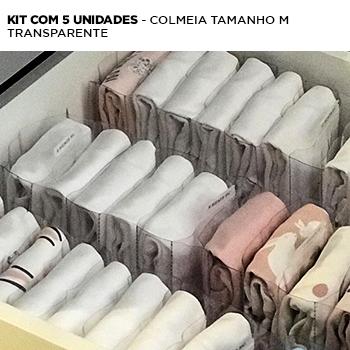 Kit c/ 5 colmeias - transparente M
