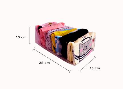 Kit com 5 colmeias M - transparente - 15x28x10 cm