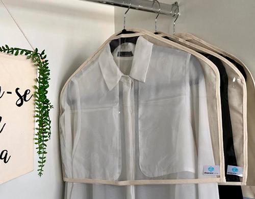 Kit Capa protetora de roupas curta + média