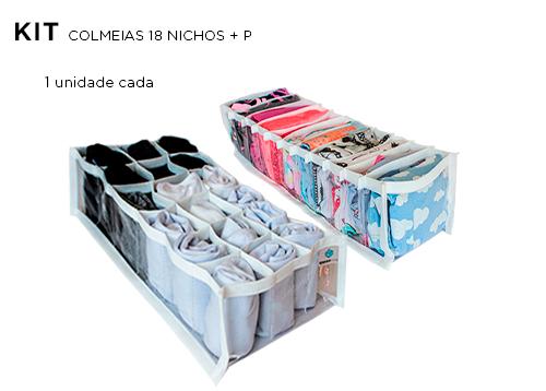 Kit Colmeia organizadora Cristal Branca P + 18 nichos