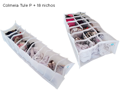 Kit Colmeia organizadora Tule P + 18 nichos
