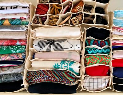 Kit colmeia organizadoras algodão P + M + G + GG + 18 Nichos