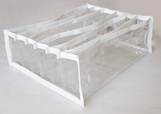 Kit com 3 colmeias GG - Cristal Branca - 32x25x10 cm