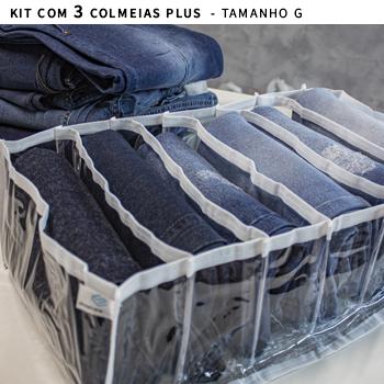 Kit com 3 colmeias PLUS branca - TAMANHO G