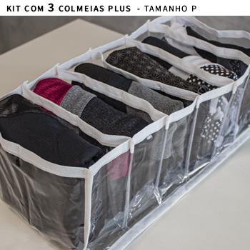 Kit com 3 colmeias PLUS branca - Tamanho P