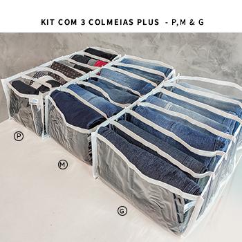 Kit com 3 colmeias PLUS branca - TAMANHOS P, M E G